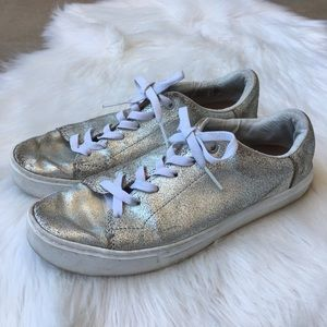 Toms Metallic Sneakers 👟 Silver Gold Shoes 10